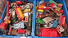 A quantity of Dinky, Corgi and Lesney toy cars