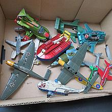A small quantity of Dinky die cast aircraft