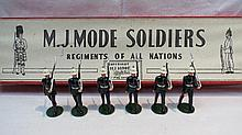 An M.J. Mode group of lead soldiers, Royal Marines