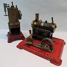 A Mamod live steam static engine, the horizontal