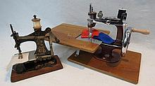 A 19thC miniature German sewing machine with