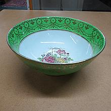 A Booths silicon china punch bowl with flower