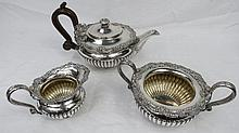 A magnificent silver tea service in Regency style
