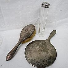 A hallmarked silver backed lady's hairbrush,