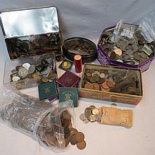 A large accumulation of British coinage from about