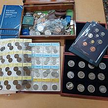 A folder of uncirculated 'Coins of Great Britain
