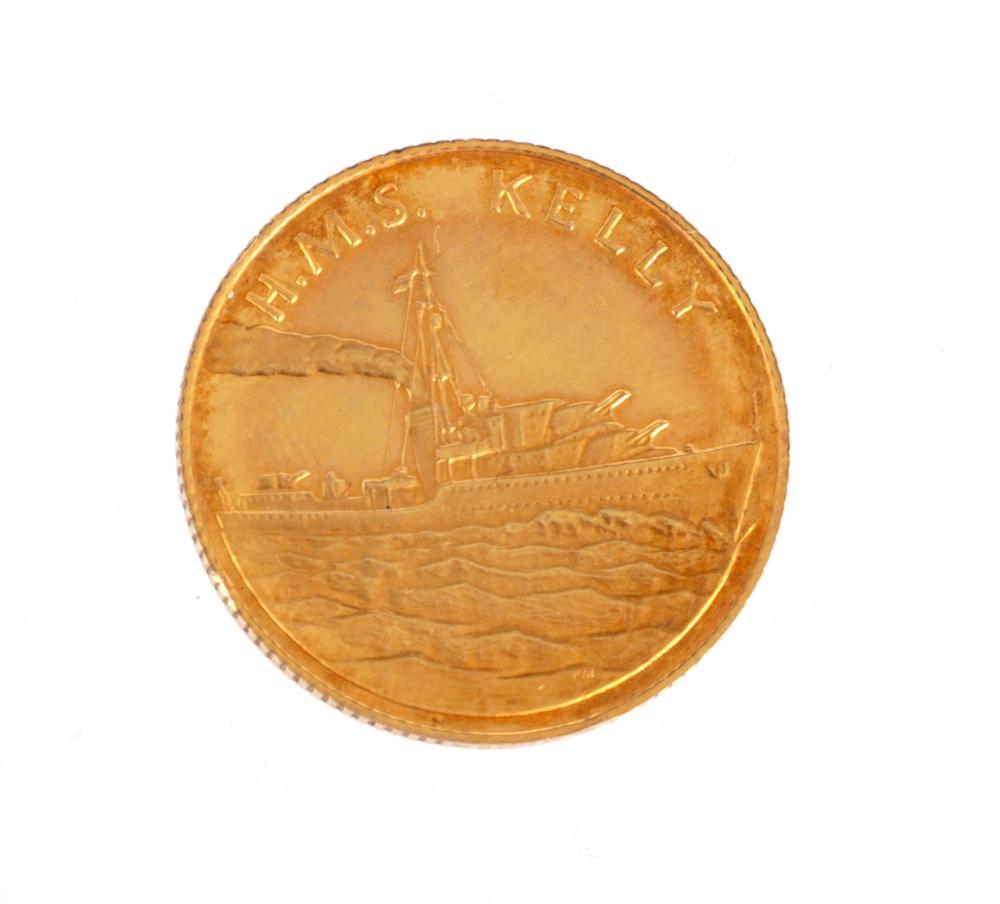 A 9CT GOLD MOUNTBATTEN COIN