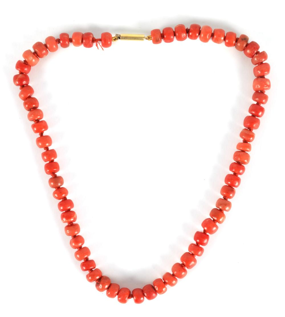 A 19TH CENTURY CORAL NECKLACE