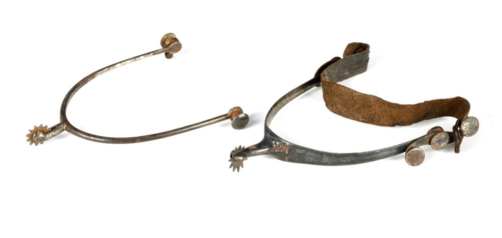 TWO 18TH CENTURY ROWEL RIDING SPURS