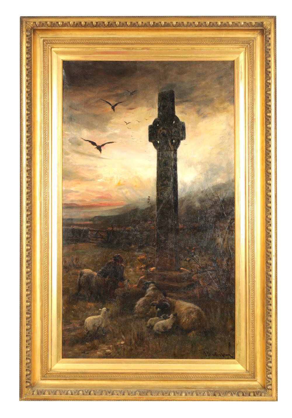 JOSEPH DENOVAN ADAM R.S.A., R.S.W (1842-1896) OIL ON CANVAS