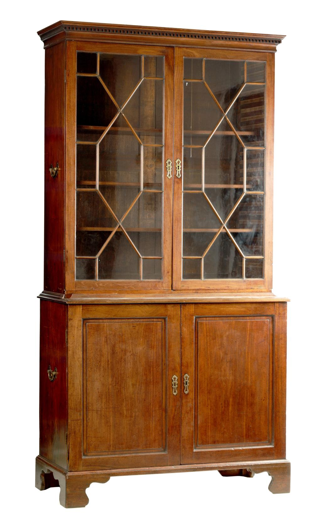 A GEORGE II MAHOGANY BOOKCASE OF SMALL PROPORTIONS