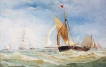 CHARLES TAYLOR Jnr FL.1841-1883 WATERCOLOUR Bu