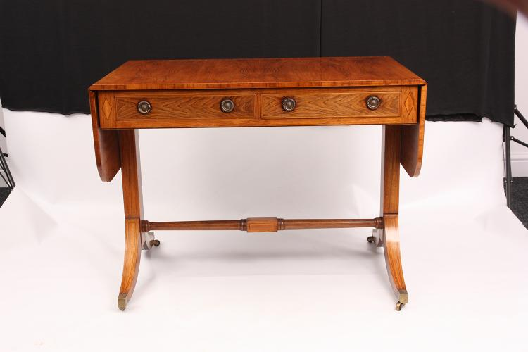 A REGENCY STYLE SATINWOOD CROSS BANDED ROSEWOOD SOFA TABLE w : H2630 L126964976 from www.invaluable.com size 750 x 500 jpeg 28kB