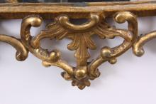AN EARLY GEORGE III CHIPPENDALE DESIGN CARVED GILT GESSO HAN