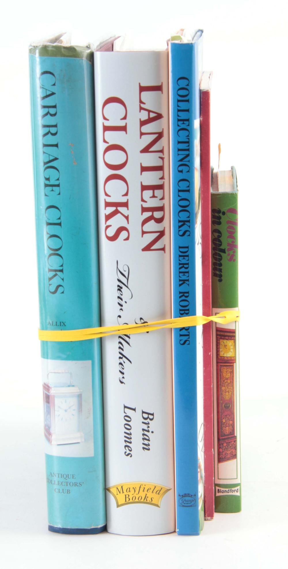 A SELECTION OF FIVE CLOCK BOOKS Lantern Clocks by