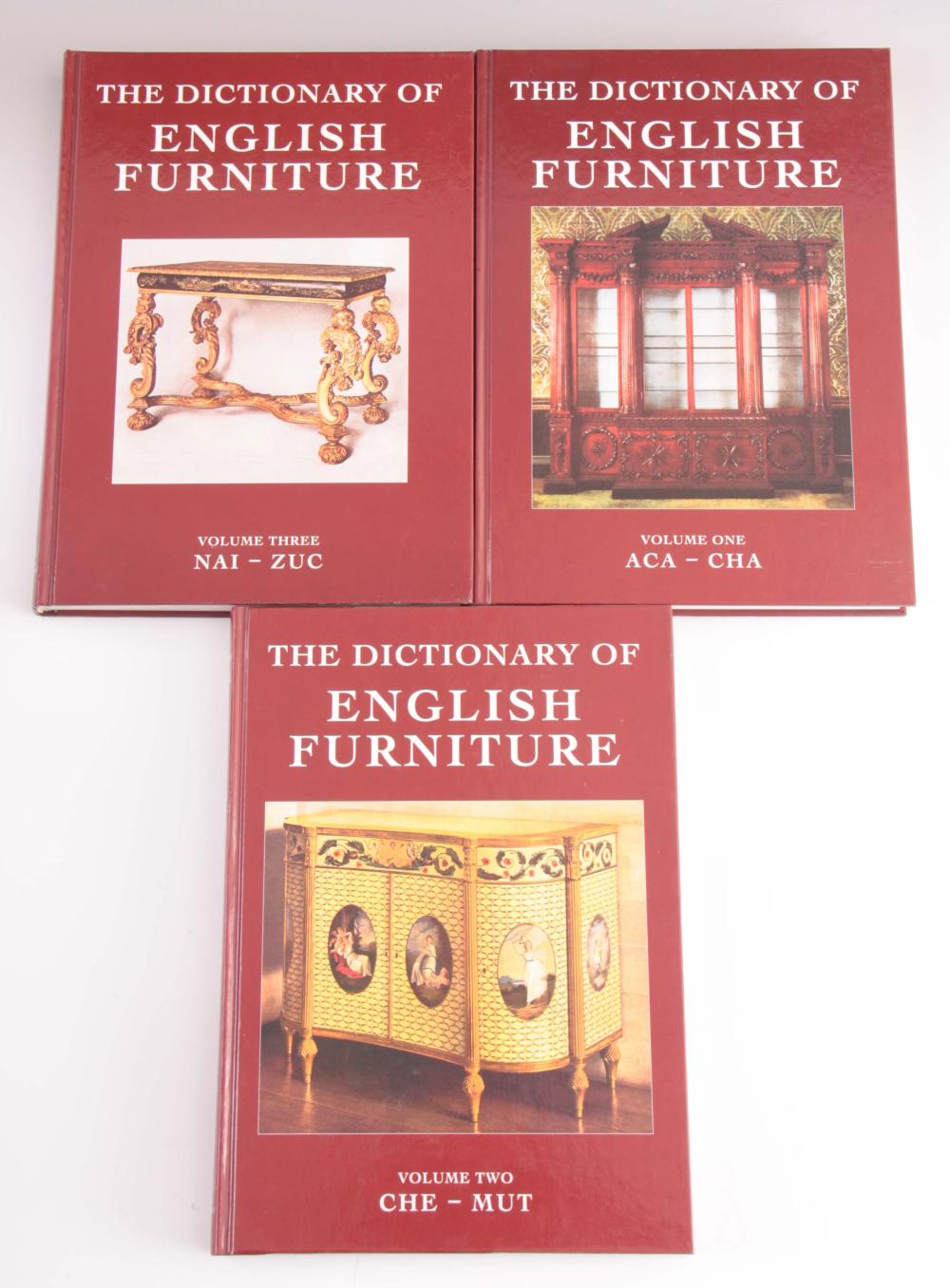 3 Volumes - The Dictionary of ENGLISH FURNTURE by