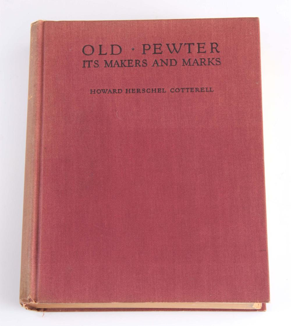 Old Pewter Its makers and marks by Howard Herschel