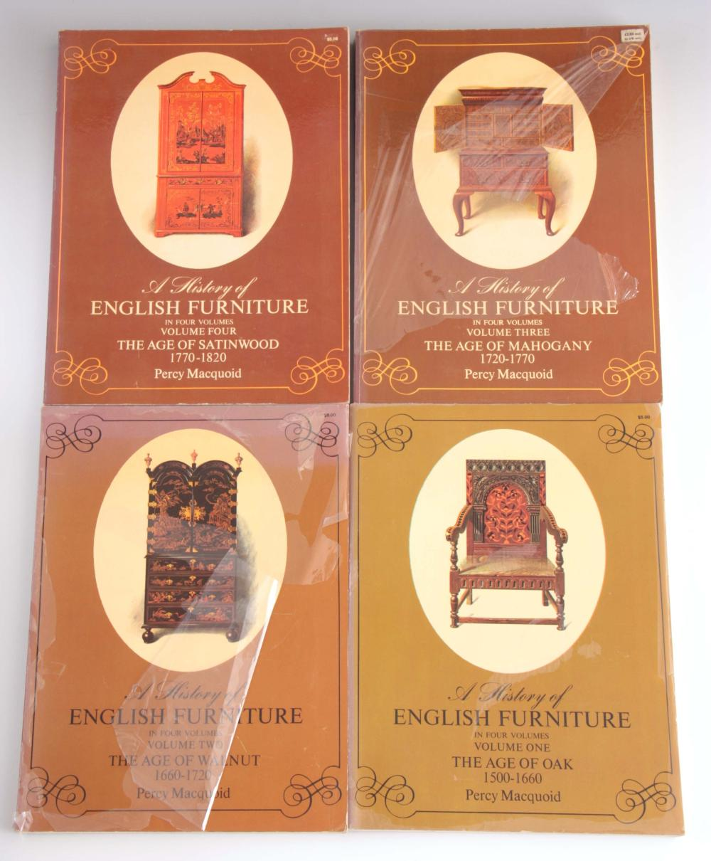 4 Volumes - A History of English Furniture in four