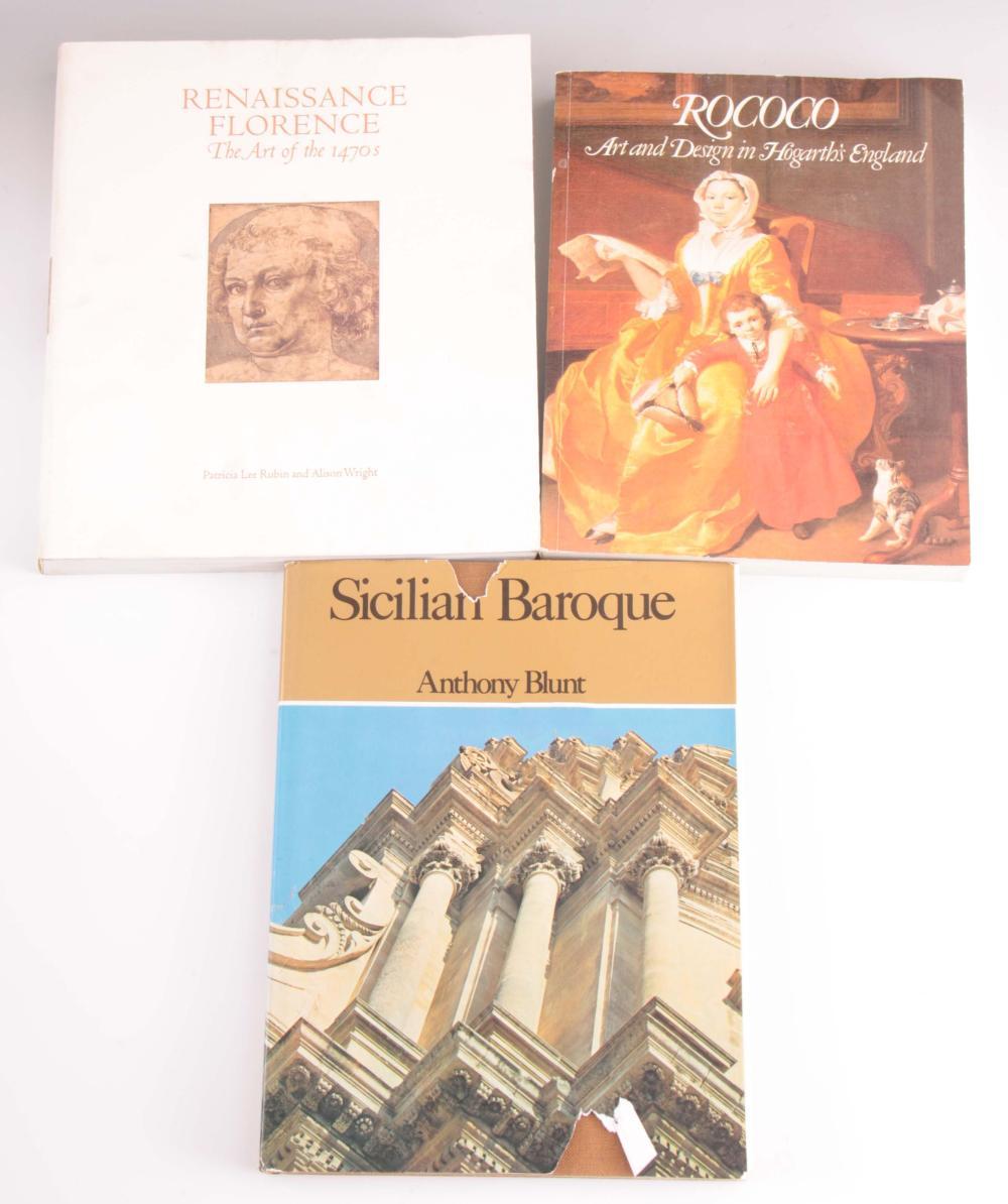 3 Books - Rococo art and design in Hogarth's Engla