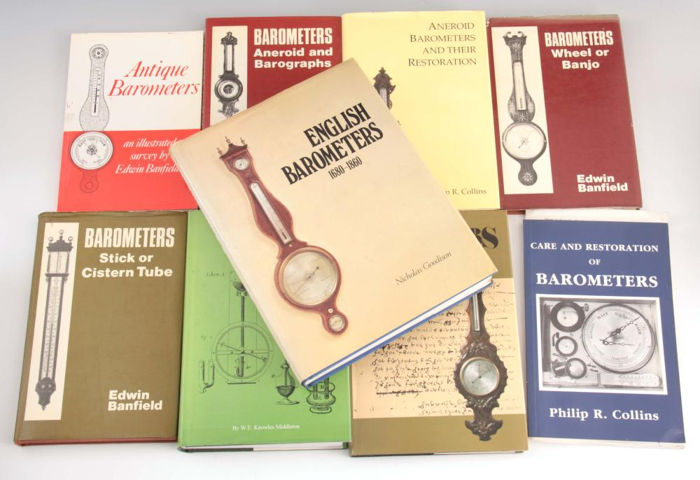 9 Books - Aneroid Barometers and their restoration
