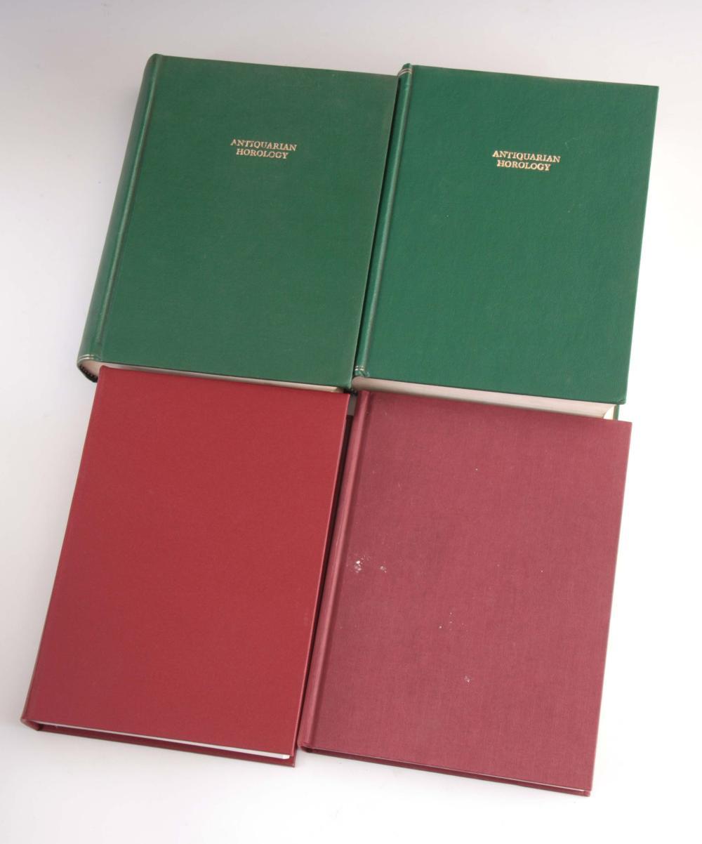 33 VOLUMES OF ANTIQUARIAN HOROLOGY MAGAZINES MOUNT