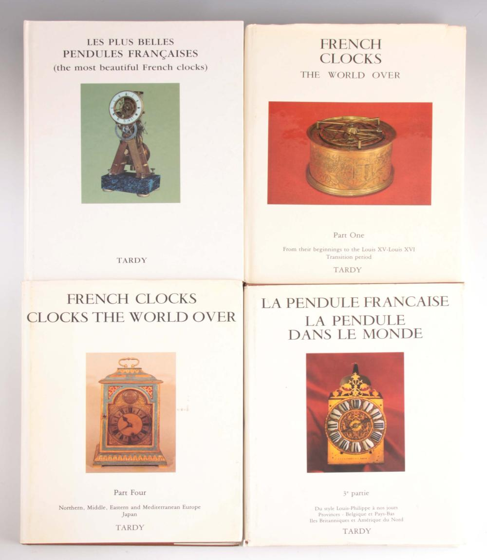 TARDY. FRENCH CLOCKS THE WORLD OVER four volumes