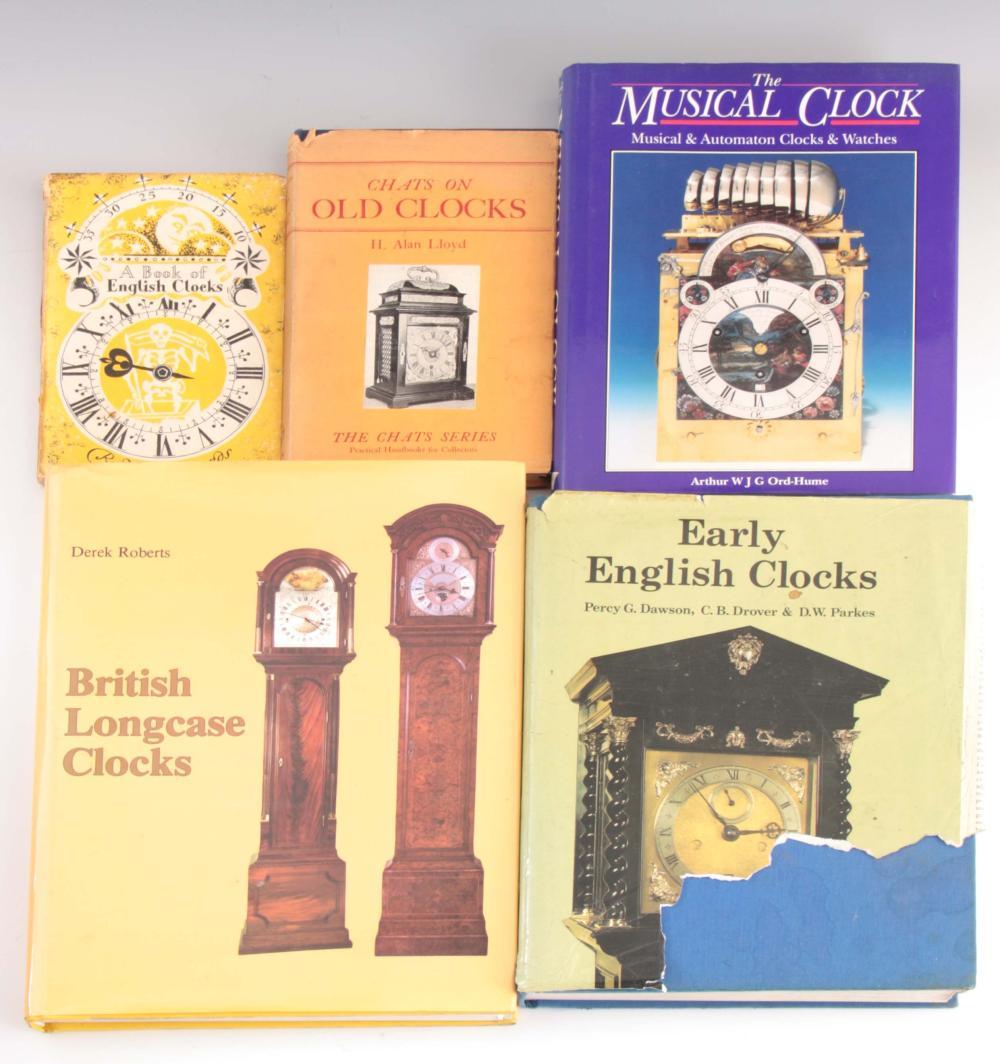 1, DEREK ROBERTS, BRITISH LONGCASE CLOCKS. 2, PERC
