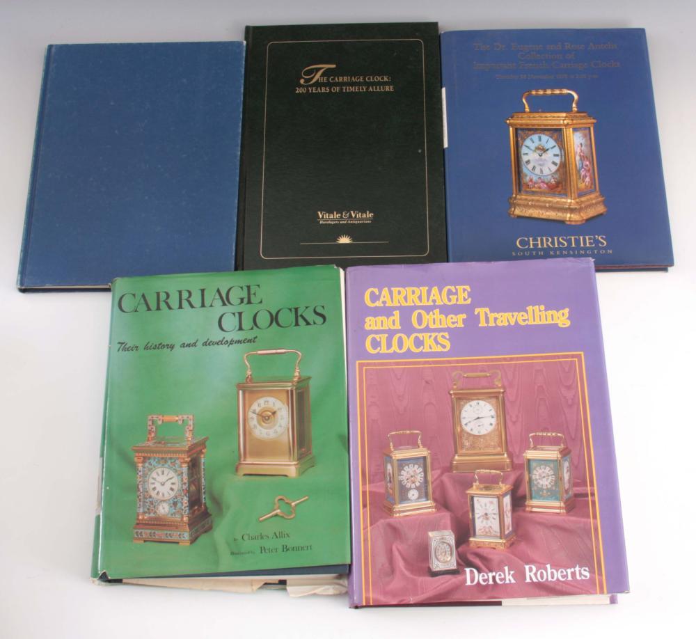 1, CHARLES ALLIX, CARRIAGE CLOCKS. 2, DEREK ROBERT