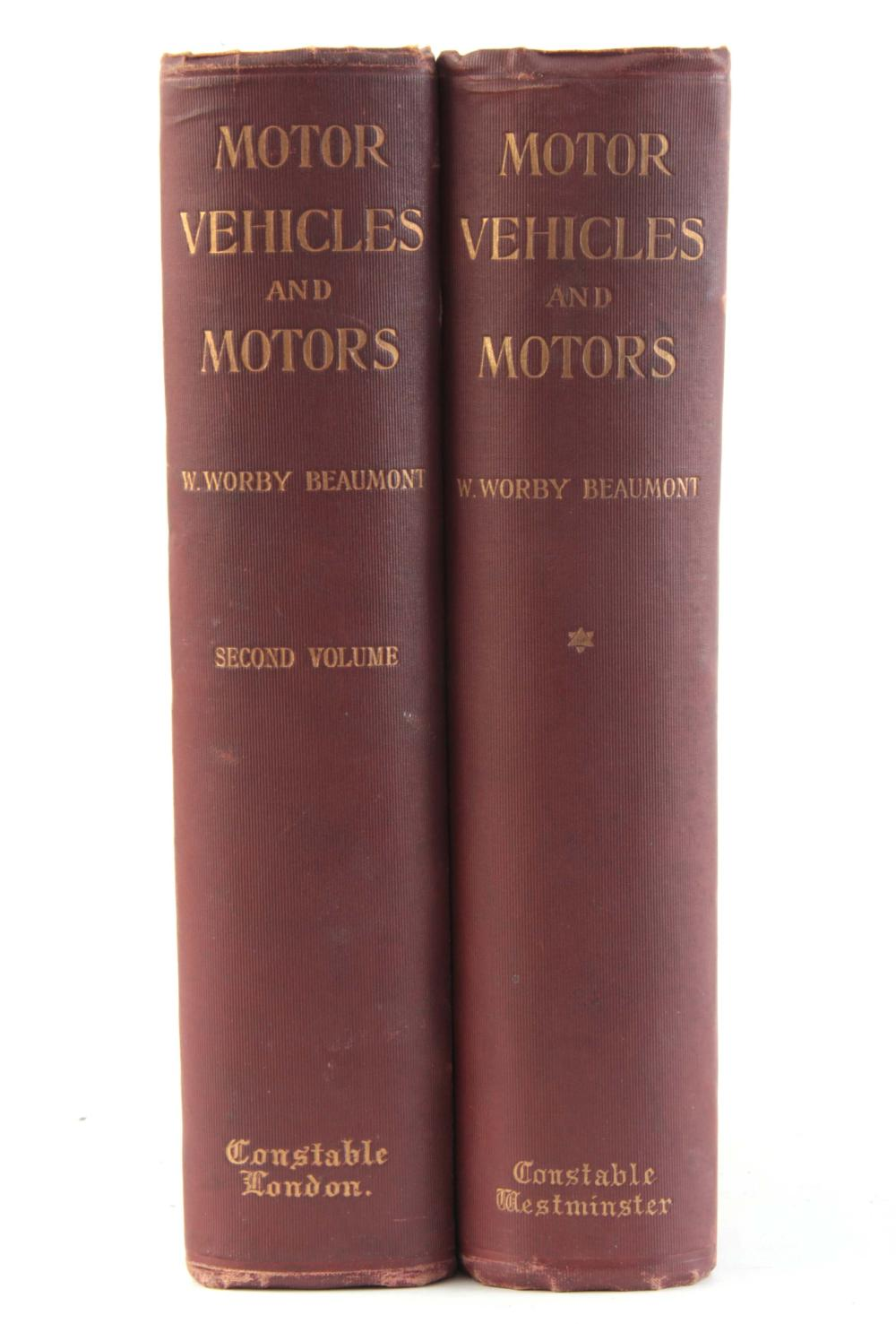 A SET OF 2 VOLUMES of MOTOR VEHICLES AND MOTORISTS