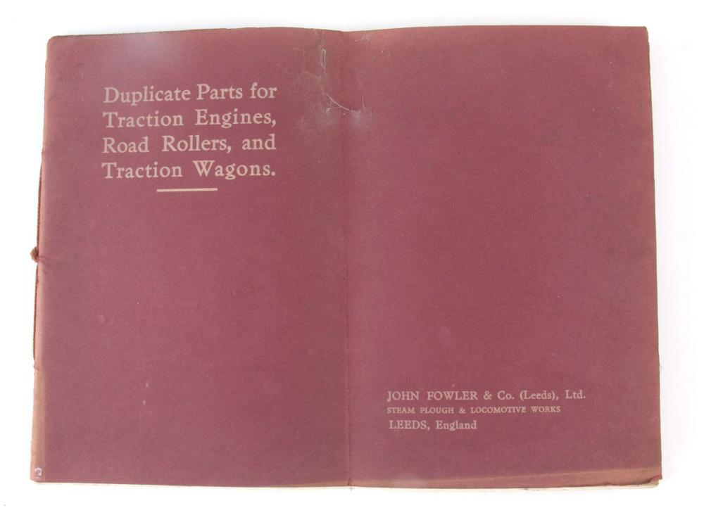 A RARE LEAFLET - DUPLICATE PARTS FOR TRACTION ENGI