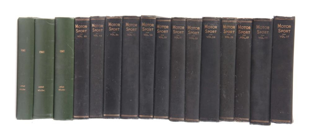 A LARGE COLLECTION OF 16 BOOKS from the Motorsport