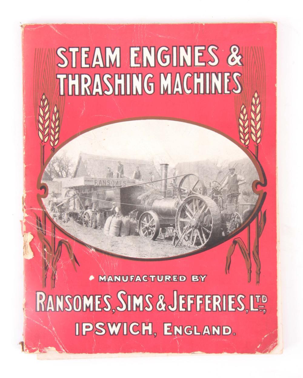 A RARE BOOK, STEAM ENGINES & THRASHING MACHINES by