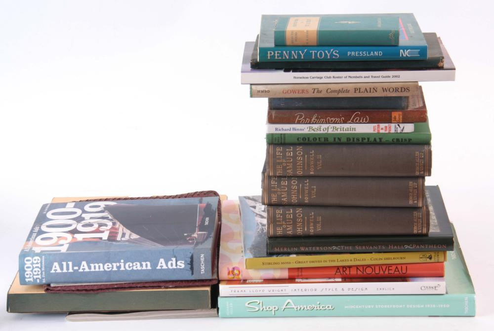AN ASSORTED BOX OF MISCELLANEOUS BOOKS. (55)