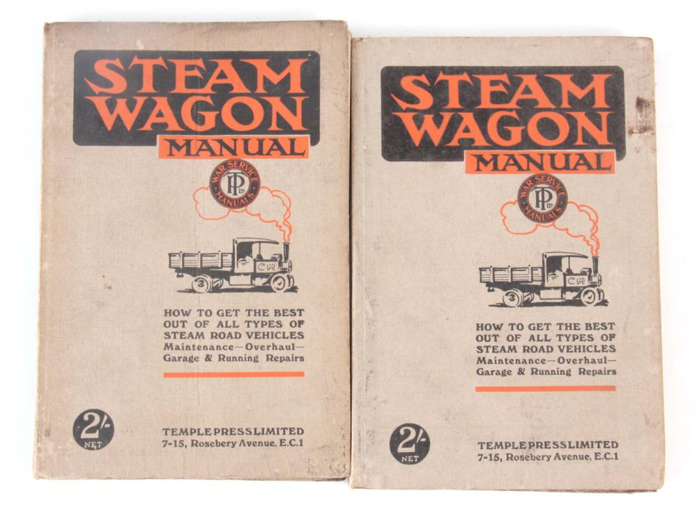 A RARE SET OF 2 STEAM WAGON MAUNALS, HOW TO GET TH