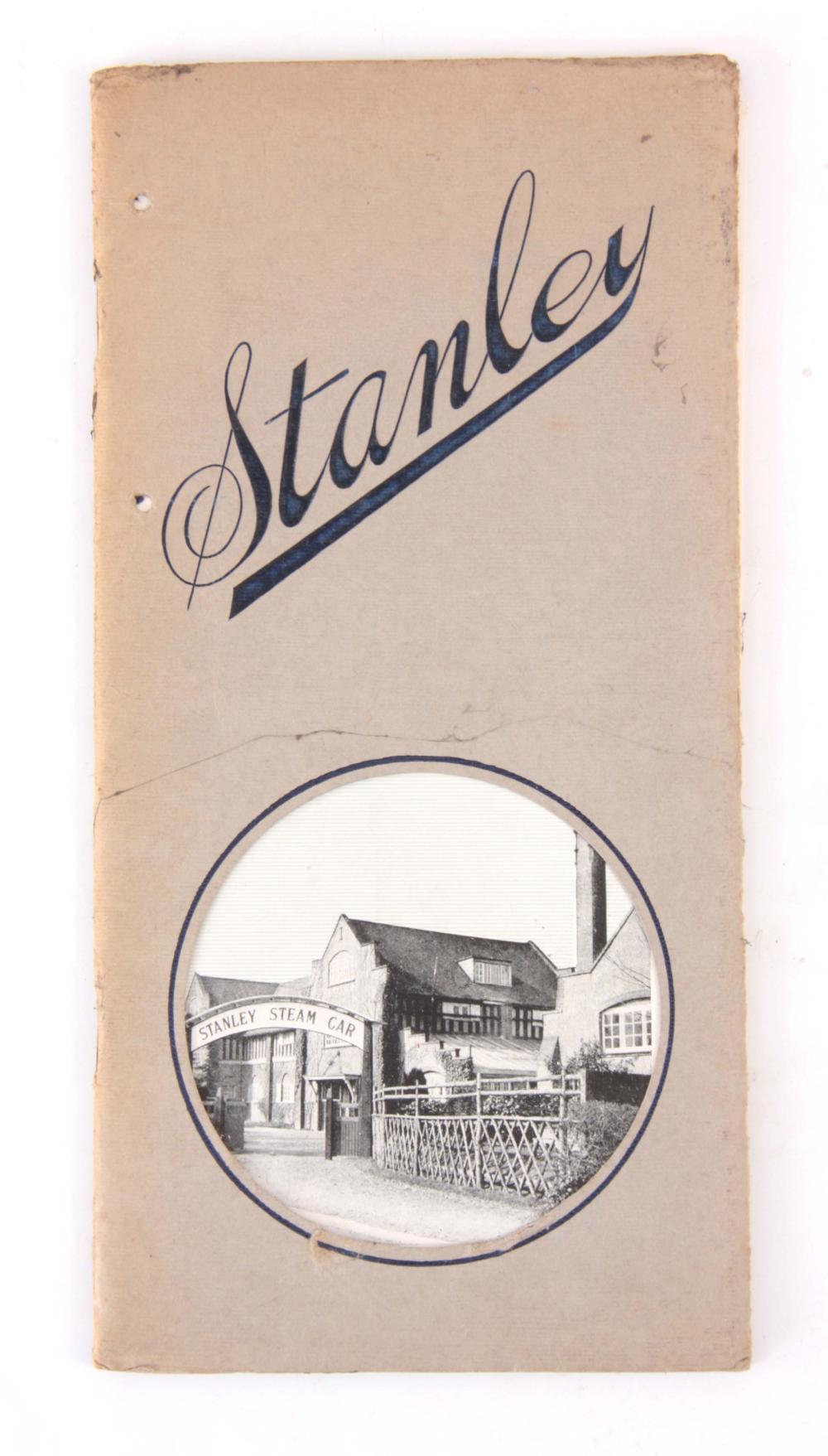 A RARE STANLEY STEAM CAR LEAFLET/BOOKLET, DESCRIPT