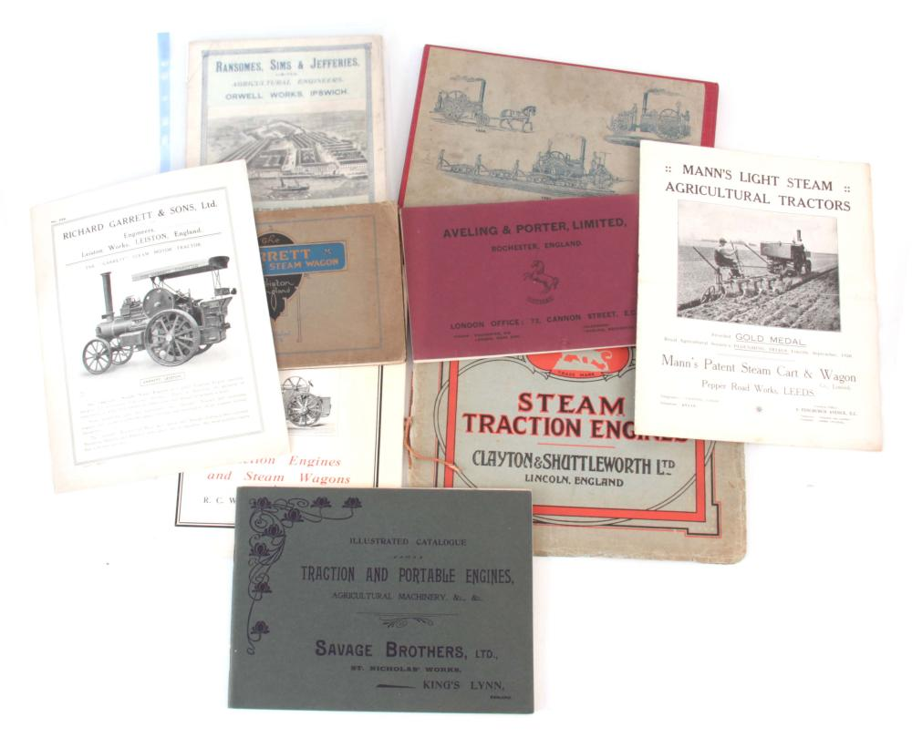 A SELECTION OF STEAM RELATED LEAFLETS, Relating to