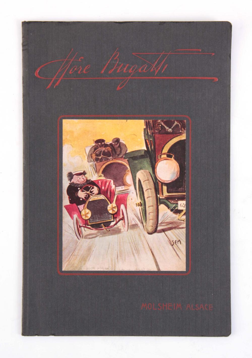 """A RARE BUGATTI SALES LEAFLET """"ETTORE BUGATTI"""" by M"""