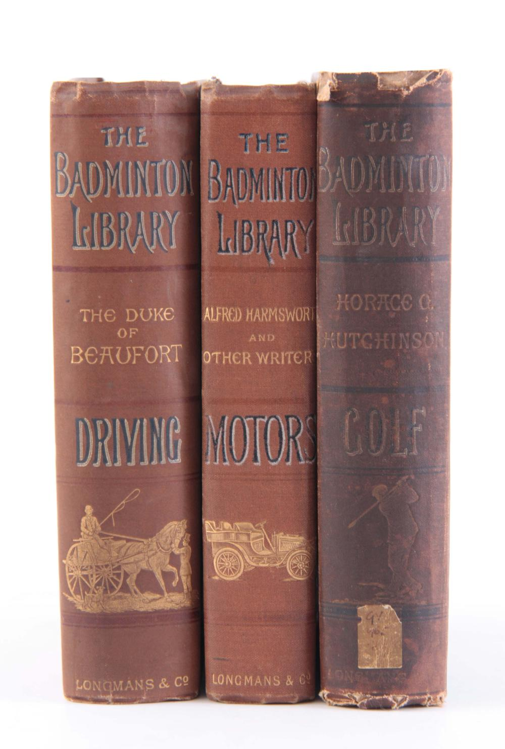 A SET OF 3 BOOKS of THE BADMINTON LIBRARY covering