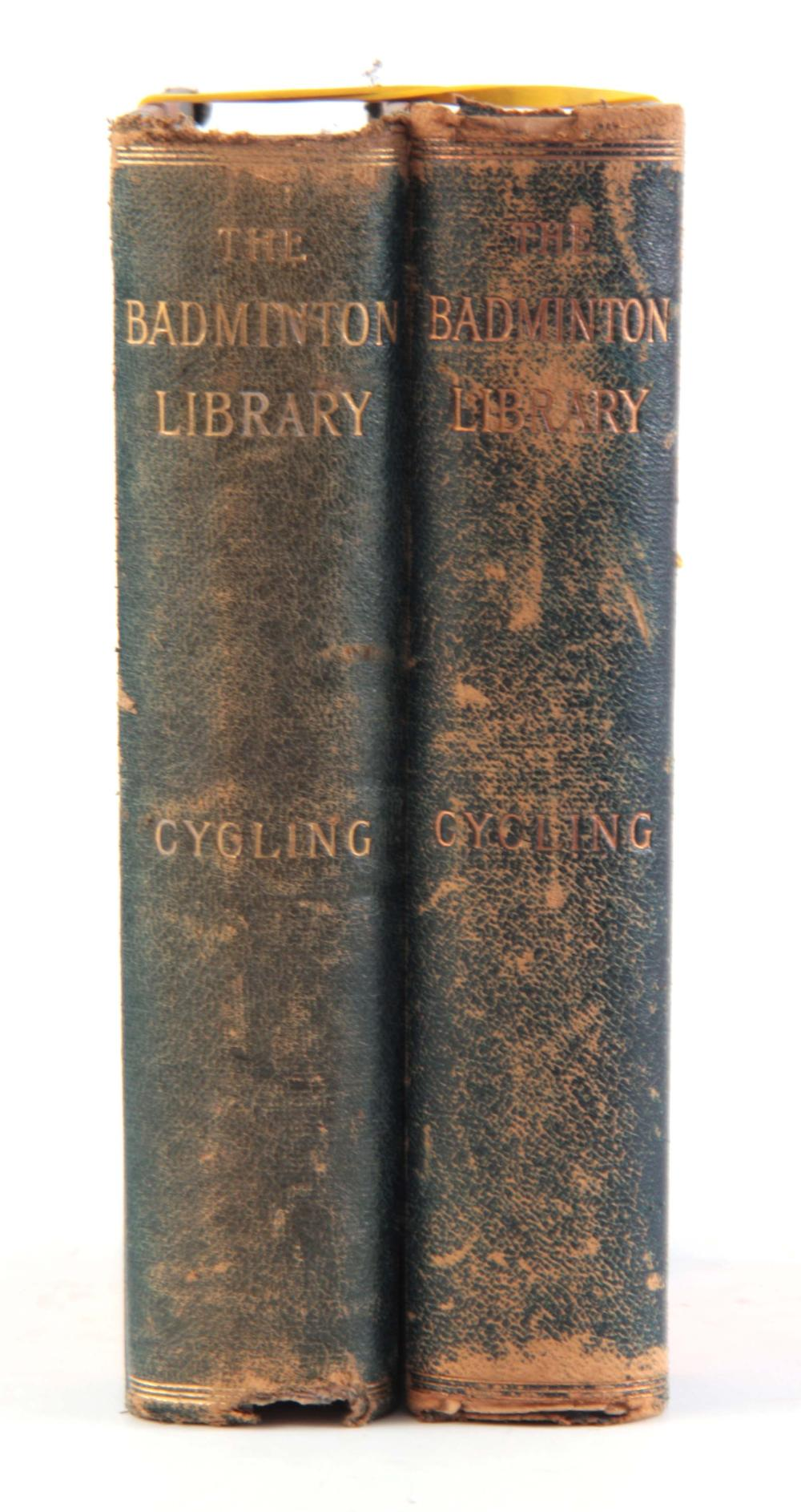 A SET OF 2 BOOKS, THE BADMINTON LIBRARY CYCLING by