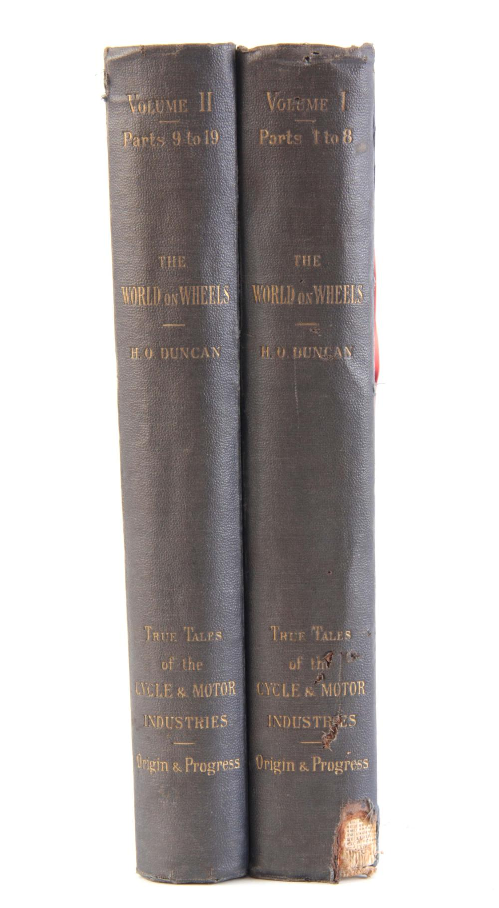 A SET OF 2 VOLUMES OF THE WORLD ON WHEELS by H.O.D