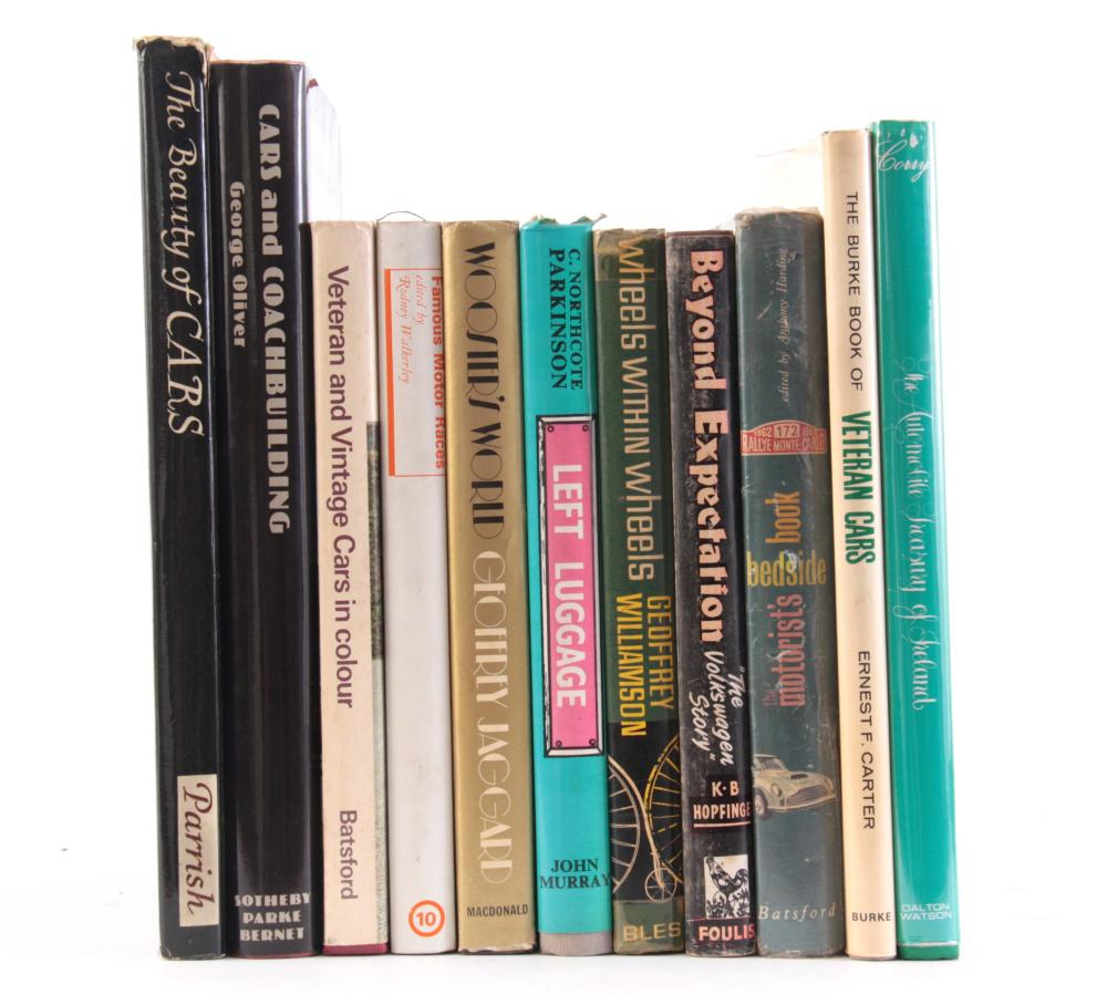 A COLLECTION OF 11 BOOKS including, THE AUTOMOBILE