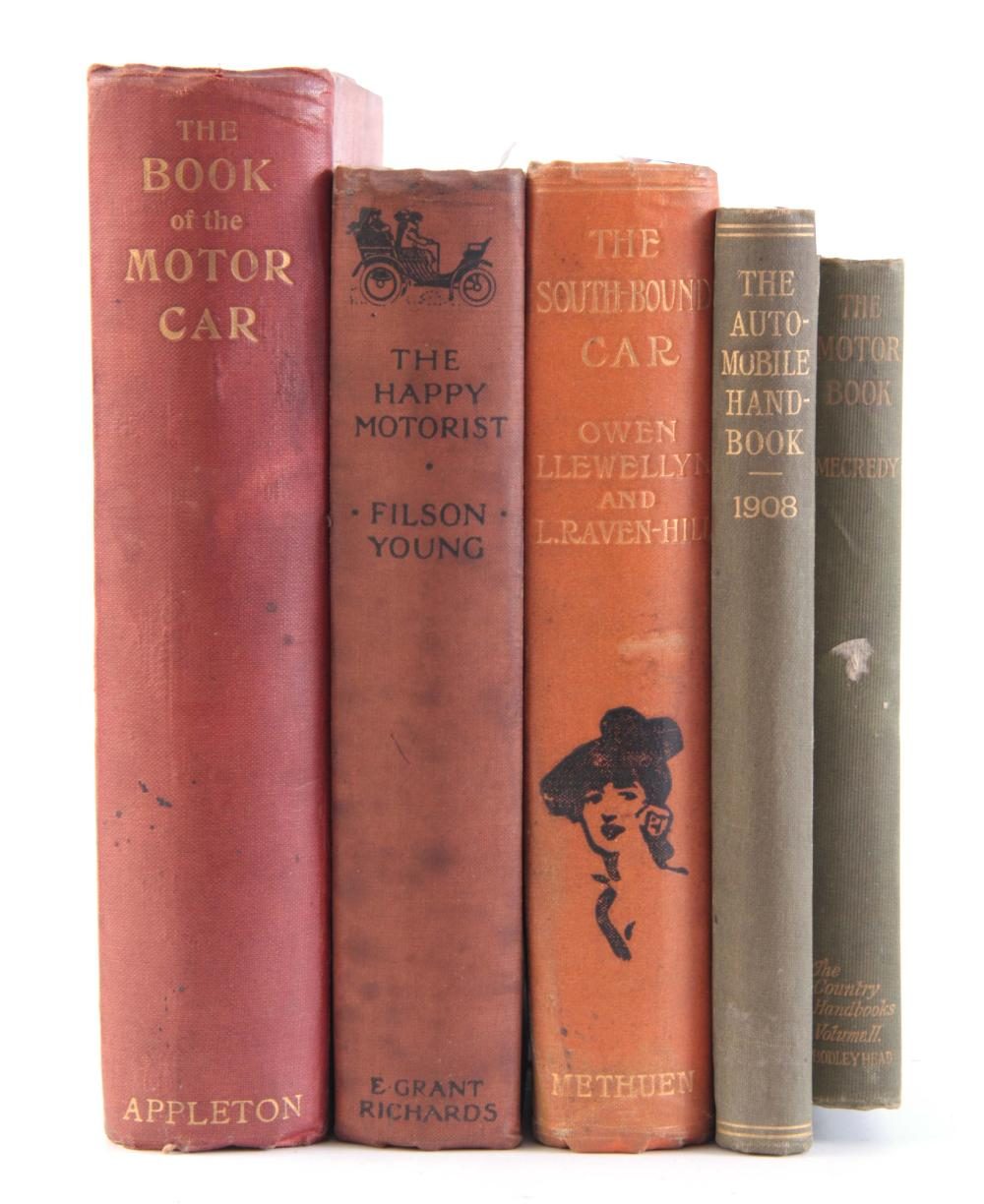 A SET OF 5 BOOKS including, THE BOOK OF THE MOTOR