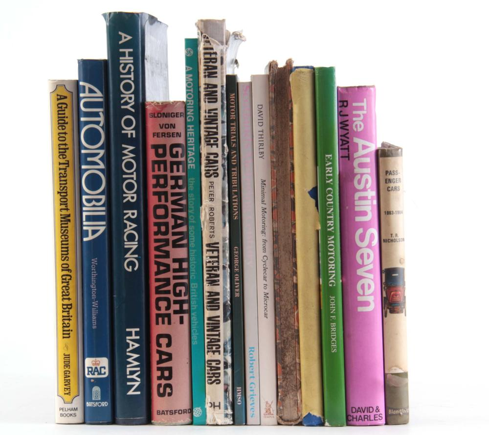 A COLLECTION OF 14 BOOKS including, PASSENGER CARS