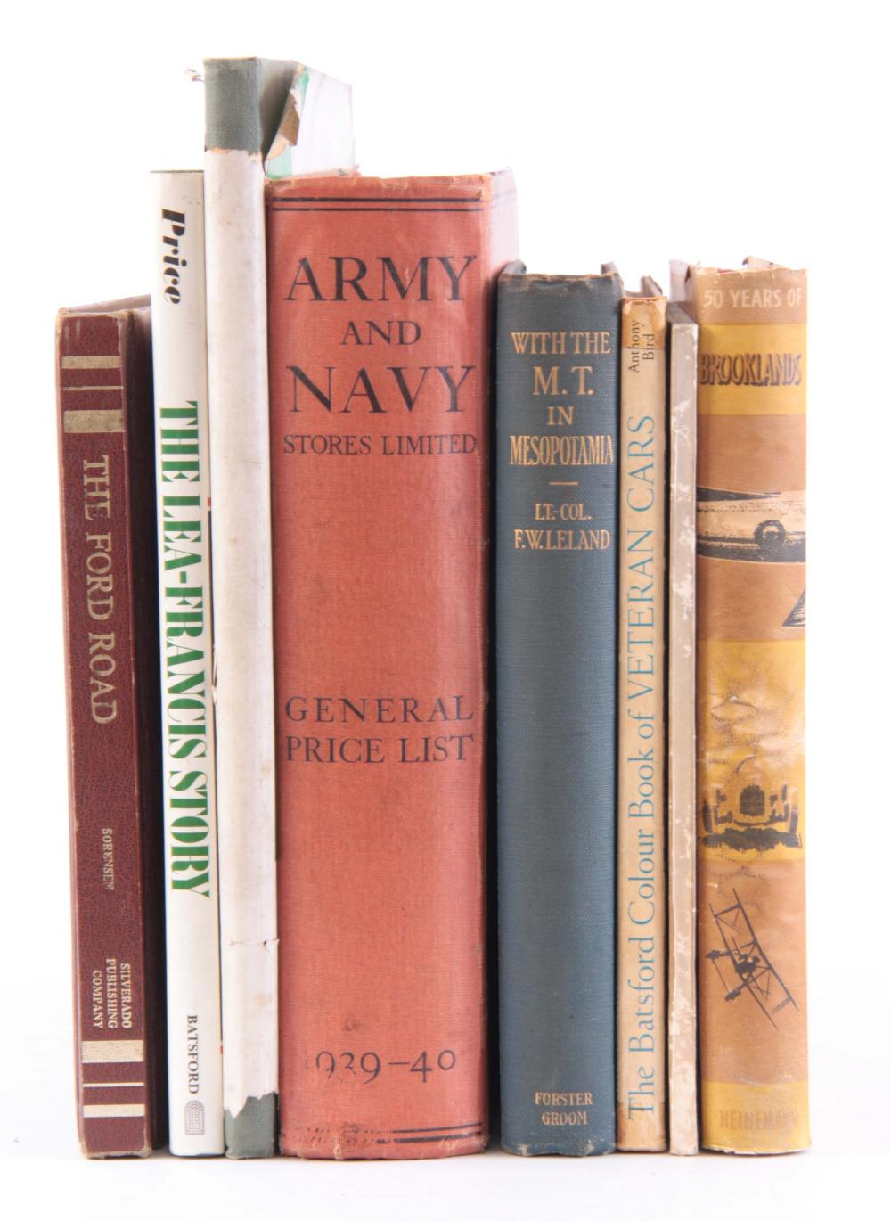 A COLLECTION OF 8 BOOKS including, FIFTY YEARS OF