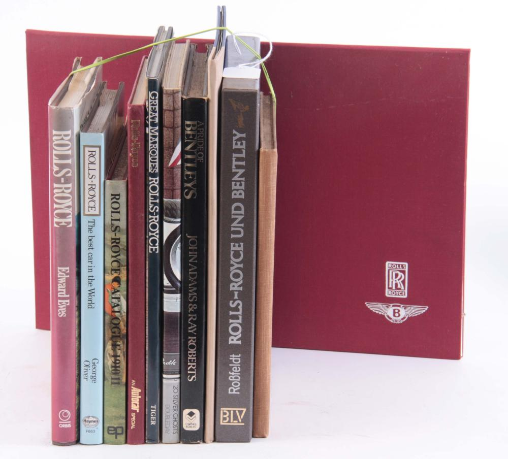 A COLLECTION OF 10 BOOKS including, ROLLS-ROYCE ME
