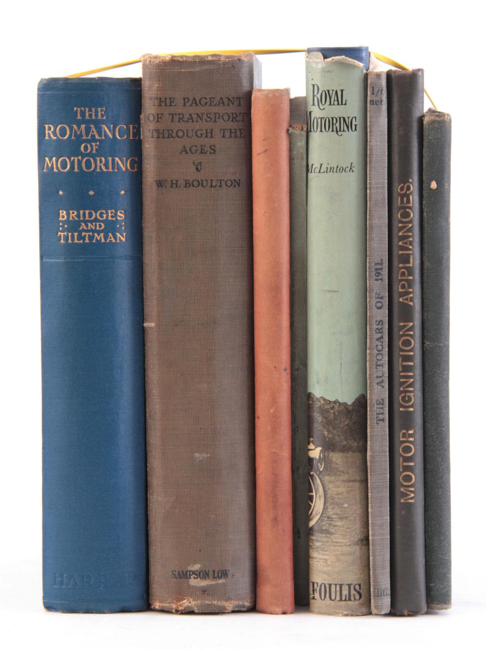 A COLLECTION OF 7 BOOKS, including THE MOTOR MANUA