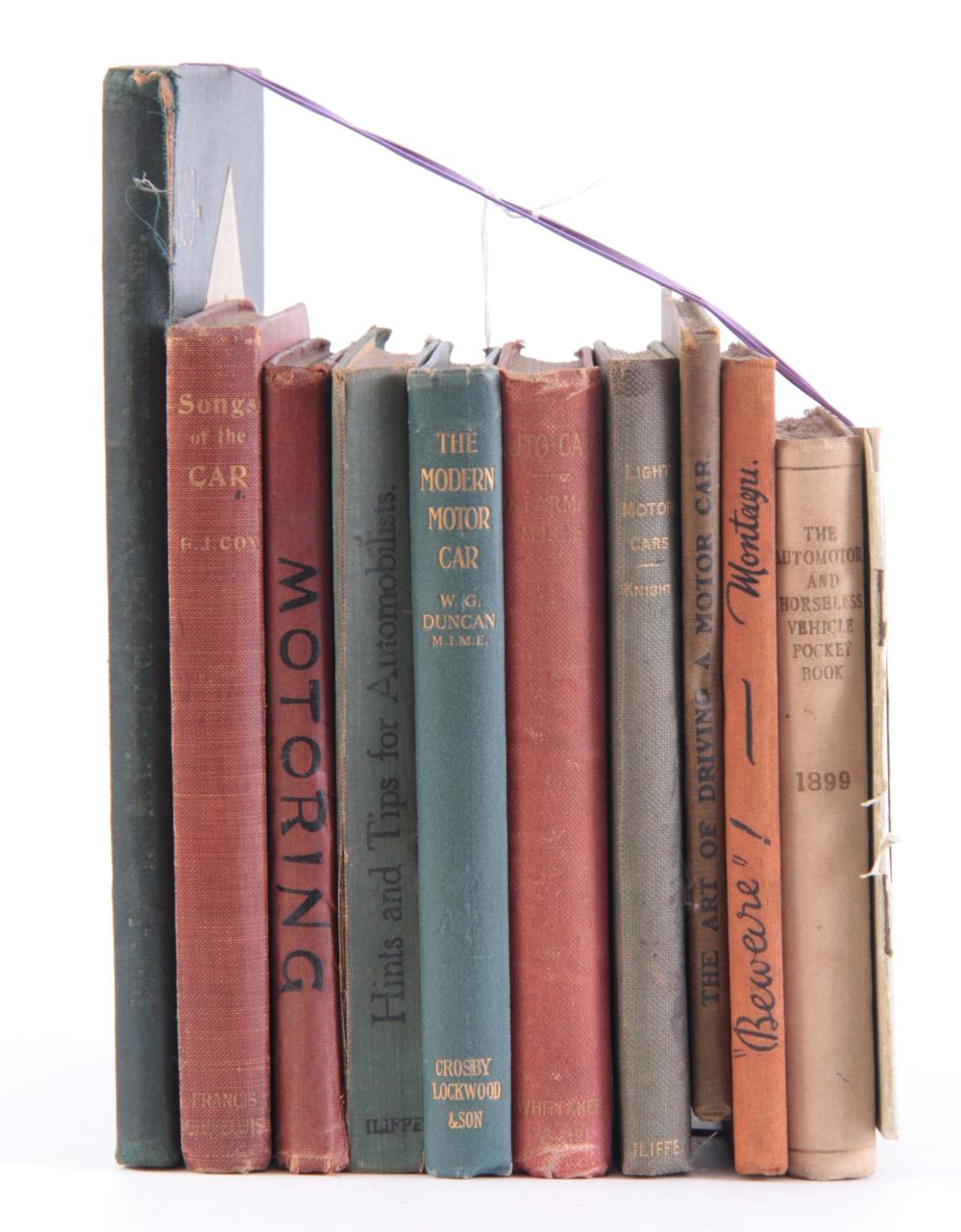 A COLLECTION OF 11 BOOKS, including MOTOR PROBLEMS