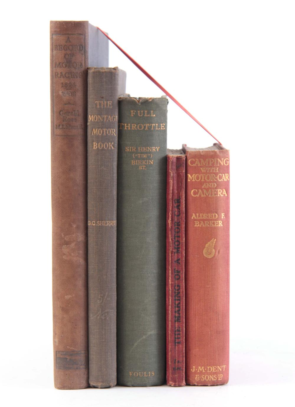 A COLLECTION OF 5 BOOKS including CAMPING WITH MOT