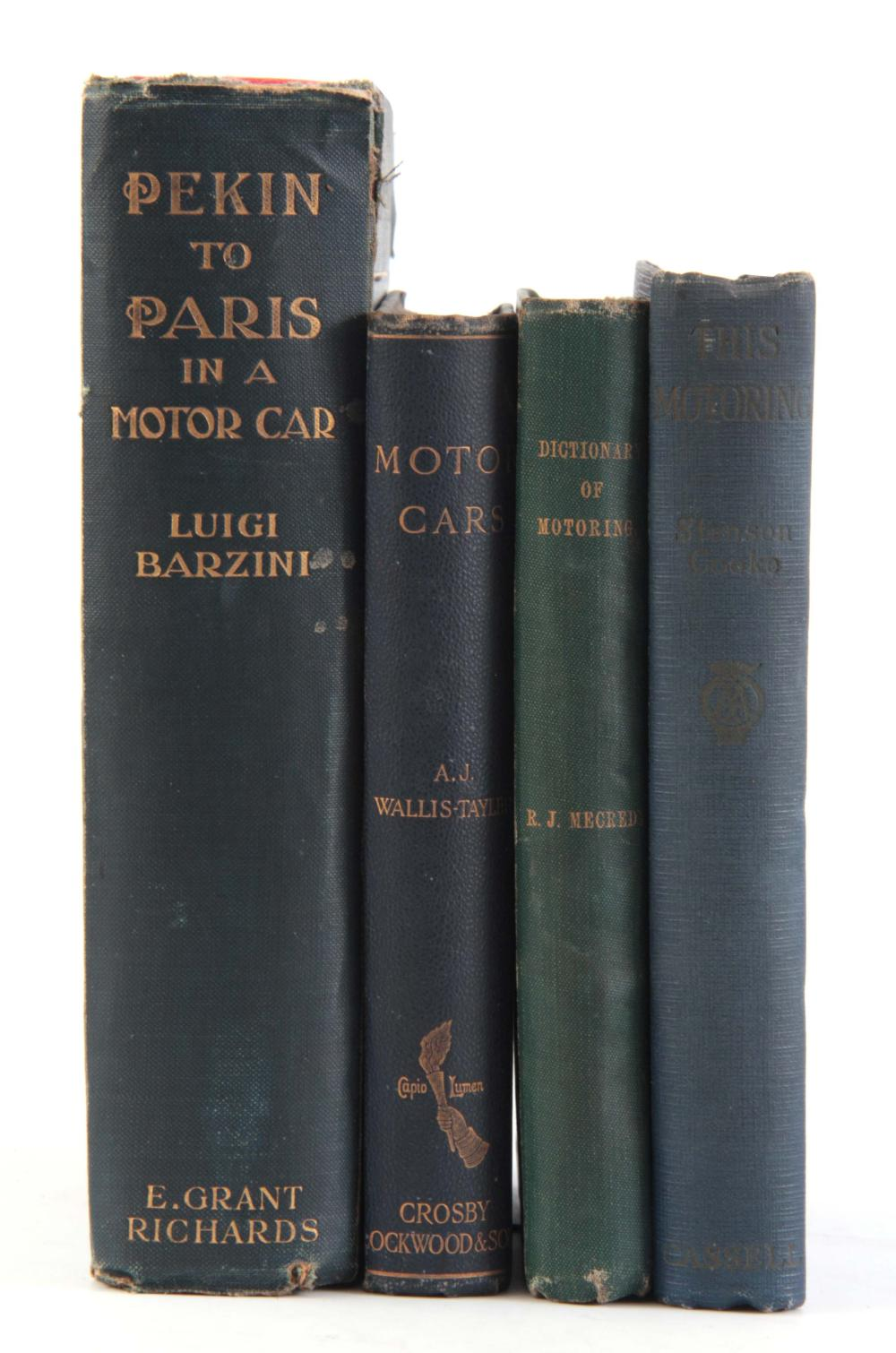 A COLLECTION OF 4 BOOKS including, THIS MOTORING b