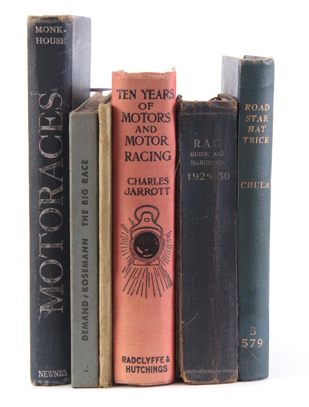 A COLLECTION OF 6 BOOKS including, ROAD STAR HAT T